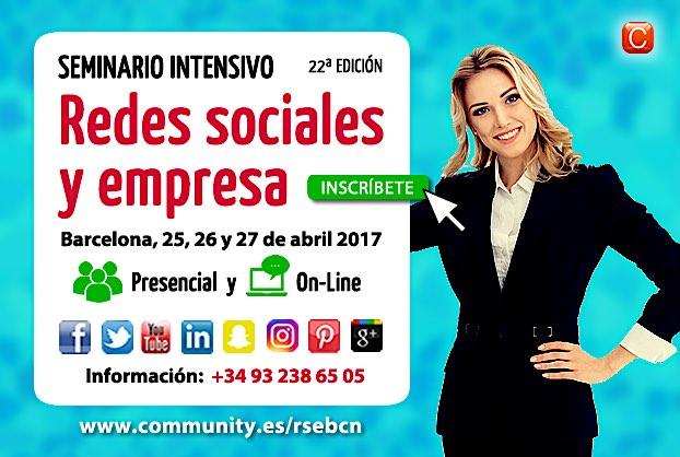 Seminario Redes Sociales y Empresa barcelona abril 2017